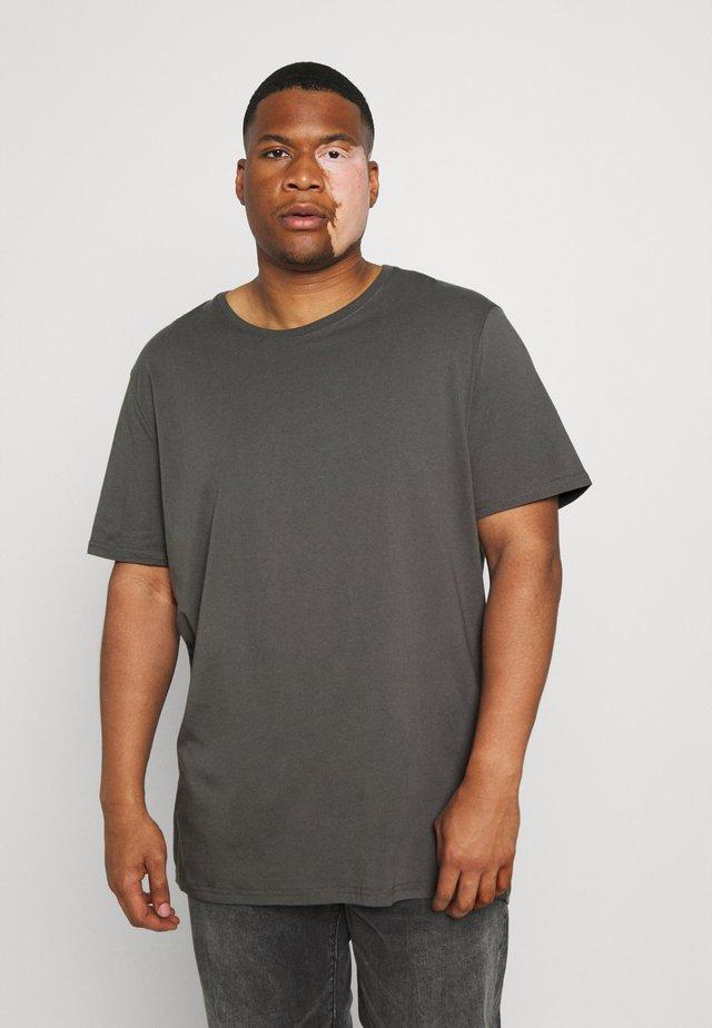 ESSENTIAL LONGLINE SCOOP TEE - T-shirt basic - khaki