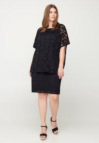 Zizzi - Pencil skirt - black - 1
