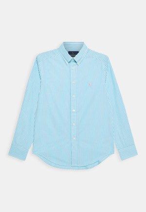 Shirt - turquoise/white