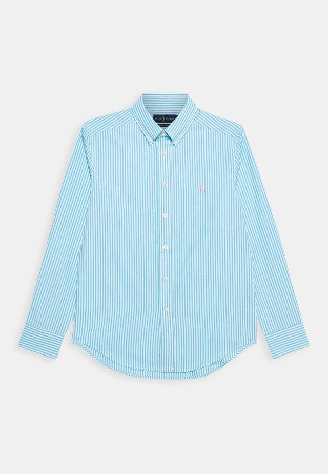 Košile - turquoise/white