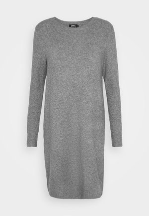 ONLELENA DRESS - Strikket kjole - medium grey melange