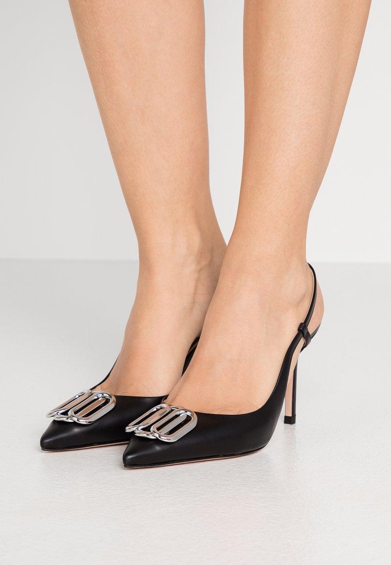 HUGO - PIPER SLING - Lodičky na vysokém podpatku - black