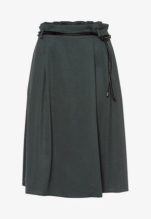 MIT SCHMALEM GÜRTEL - A-line skirt - smoky