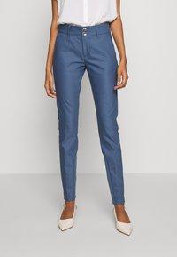 Mos Mosh - BLAKE NIGHT LONG PANT - Spodnie materiałowe - indigo blue - 0