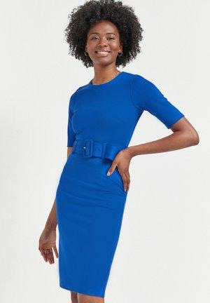 PONTE BODYCON DRESS - Shift dress - blue-grey