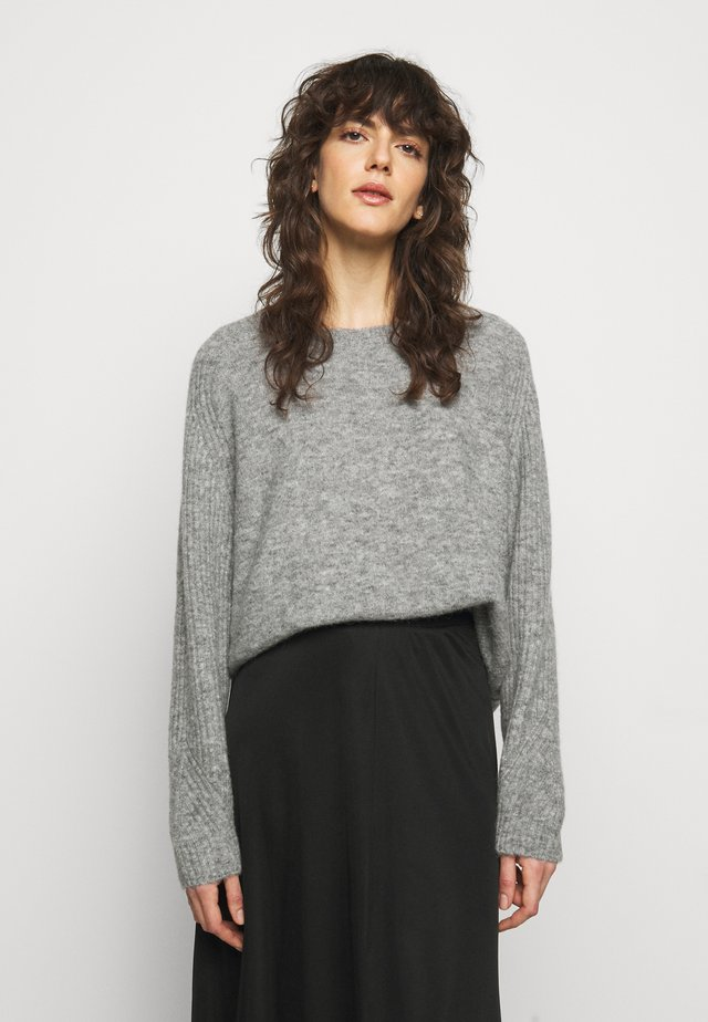 ANA - Strikkegenser - medium grey melange