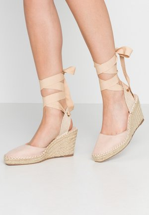 EADIE - High heeled sandals - nude