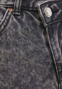 Bershka - Džínové kraťasy - black - 5
