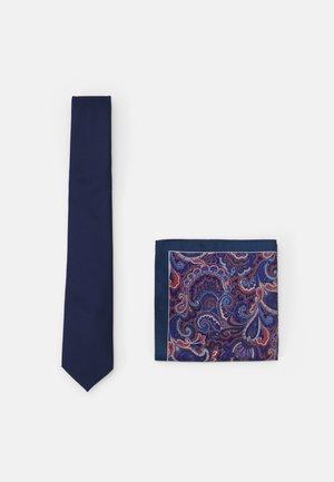 SET - Tie - dark blue/bordeaux