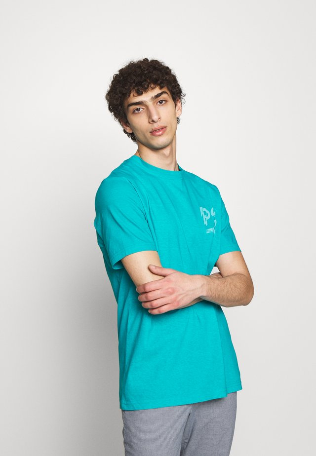 Print T-shirt - neon blue