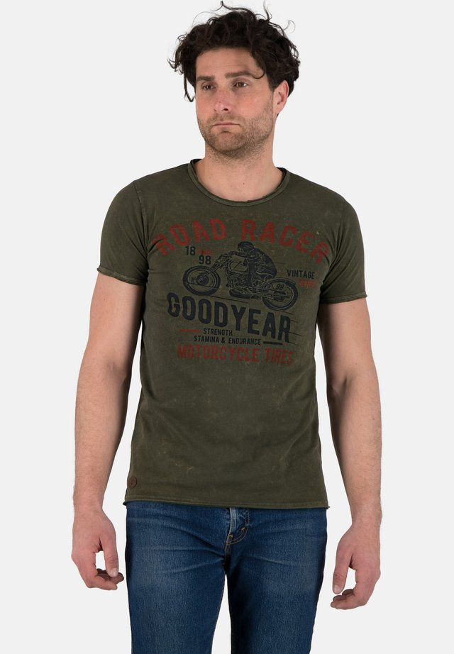 Print T-shirt - vintage grey