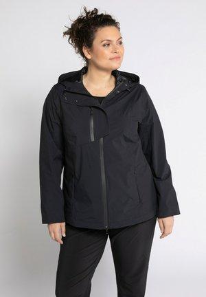 Regenjacke / wasserabweisende Jacke - schwarz