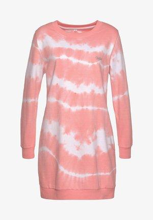 Abito in maglia - rosa-gebatikt