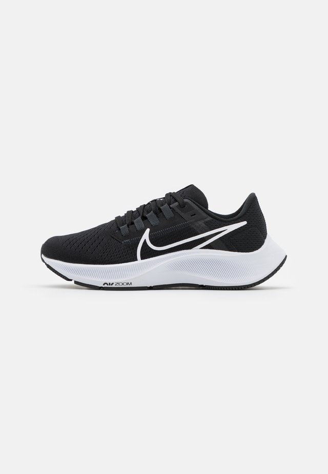 AIR ZOOM PEGASUS 38 - Neutral running shoes - black/white/anthracite/volt