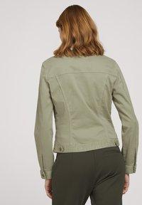 TOM TAILOR - MIT KNITTERDETAILS - Denim jacket - prairie grass green - 2