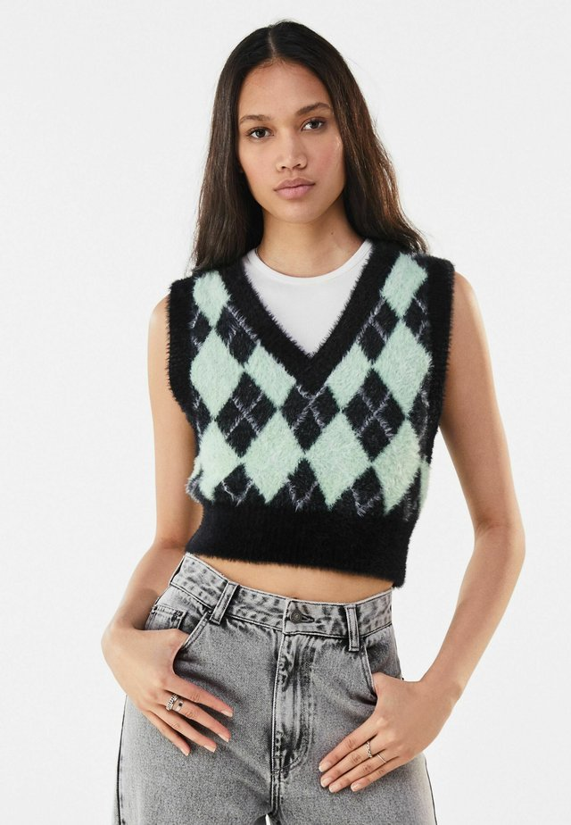 MIT RAUTENMUSTER  - Pullover - green