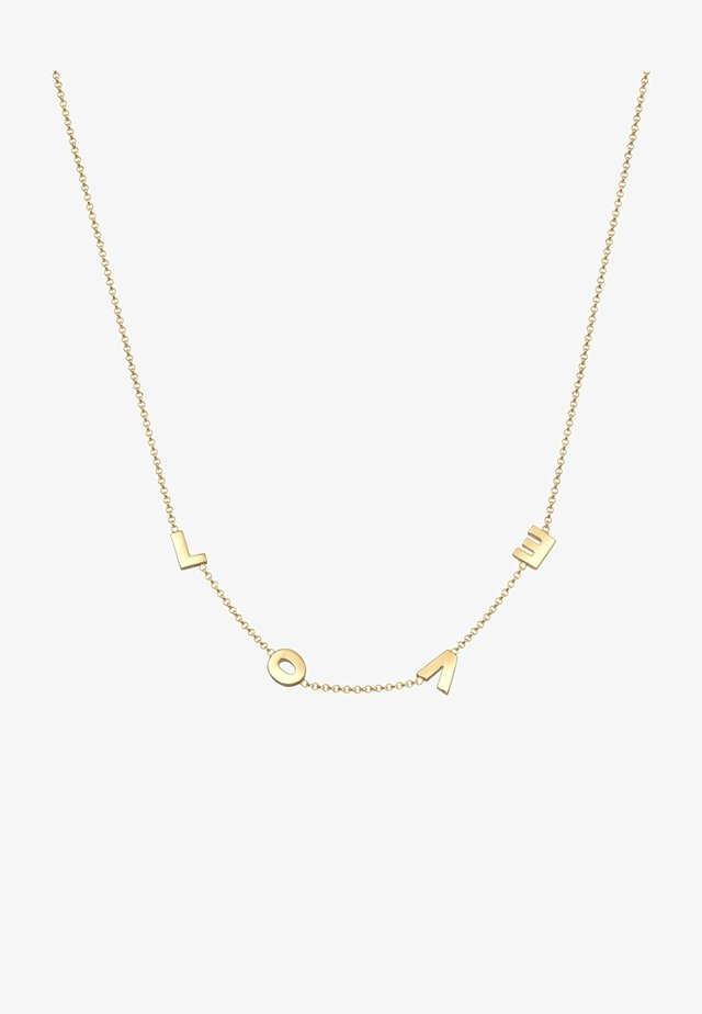 LOVE WORDING - Ketting - gold-coloured