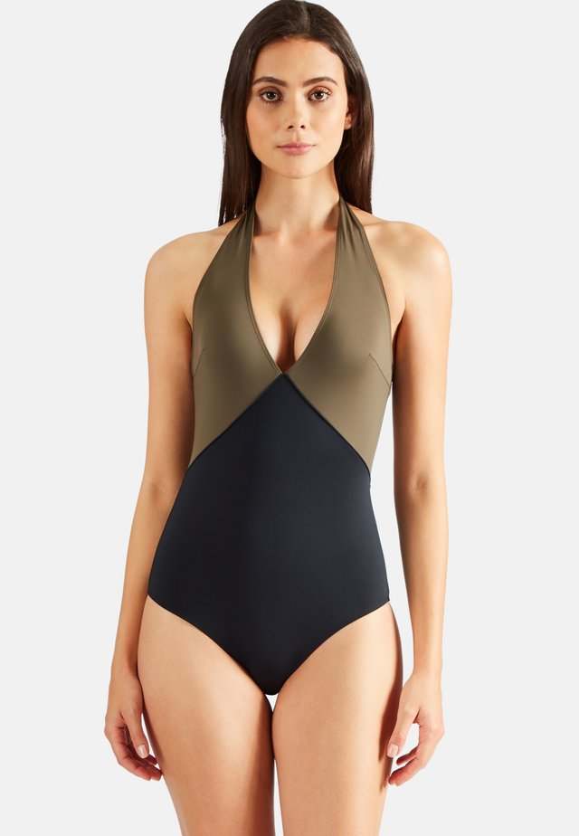 Swimsuit - kaki/black