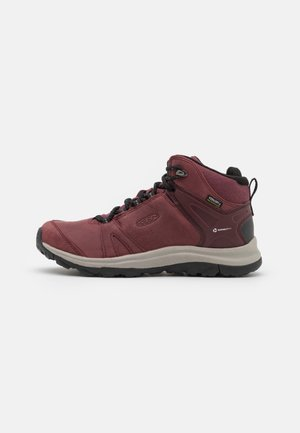 TERRADORA II MID WP - Hiking shoes - wine/black
