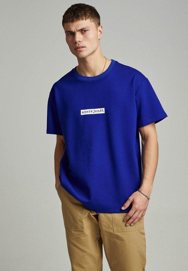 T-shirt con stampa - dark sapphire