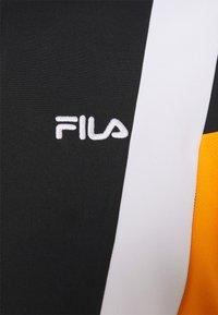Fila - AJAX TRACK JACKET - Träningsjacka - black/flame orange/bright white/biscay green - 2