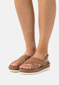 Lazamani - Platform sandals - taupe - 0