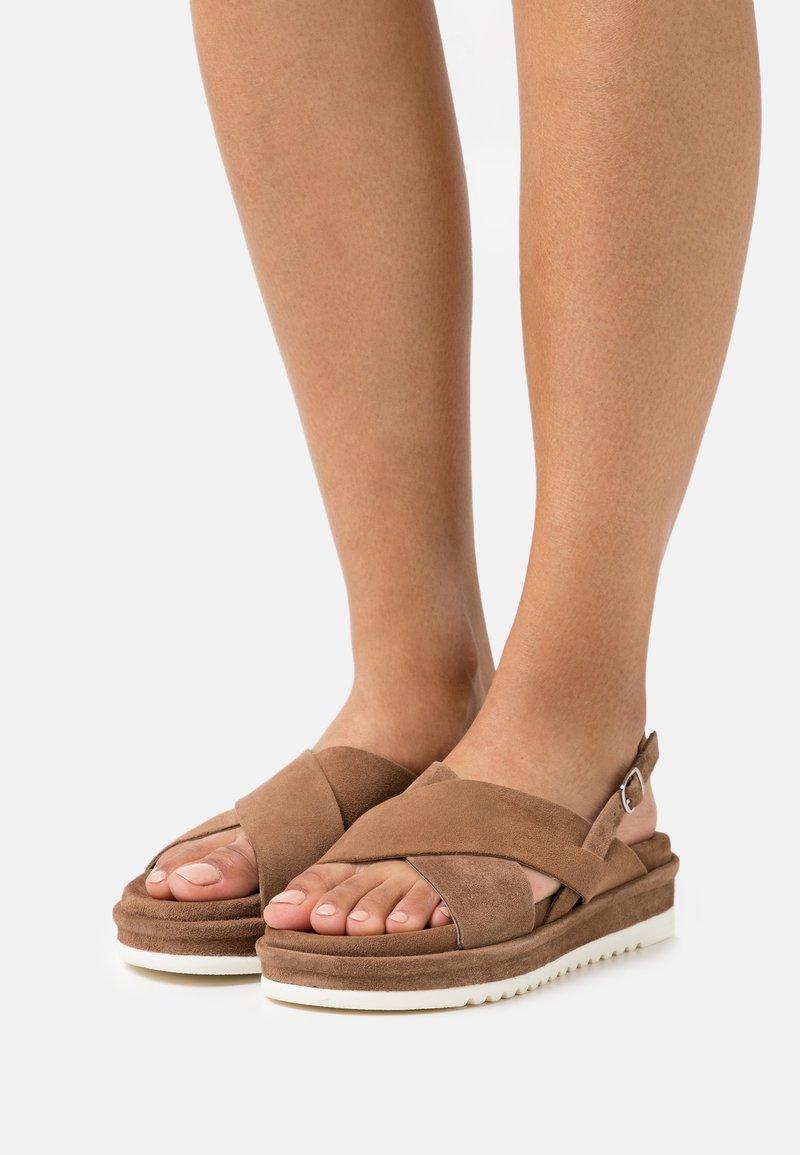 Lazamani - Platform sandals - taupe