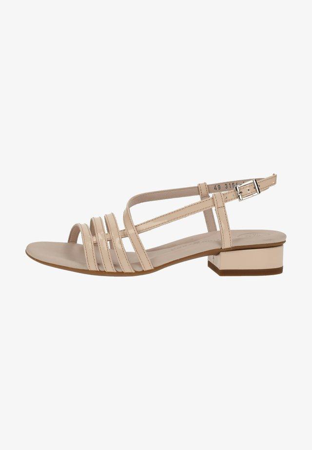 Sandaalit nilkkaremmillä - beige