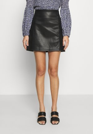 SPLIT SKIRT - Mini skirt - black