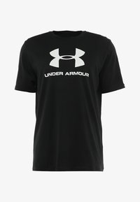 Under Armour - Print T-shirt - black/white