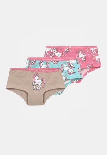 MINI UNICORNS 3 PACK - Boxerky - pink