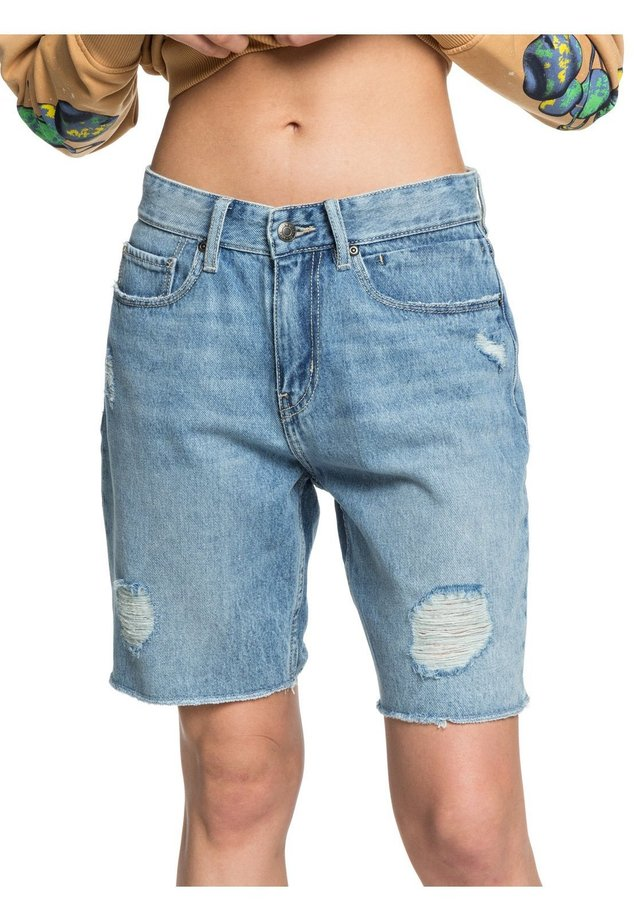 BAGGY - Short en jean - blue rip
