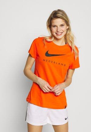 NIEDERLANDE KNVB TEE GROUND - Equipación de selecciones - safety orange