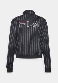 Fila - JAIMI PINSTRIPE TRACK JACKET - Training jacket - black/bright white - 1