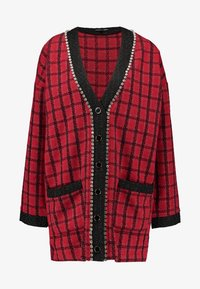 Sister Jane - CHECK LONGLINE CARDIGAN - Cardigan - red - 3