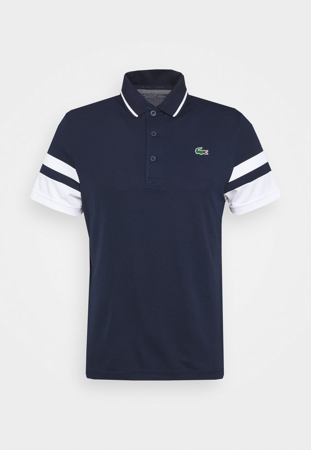 TENNIS - Polo - navy blue/white