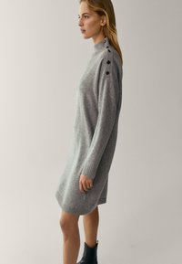 Massimo Dutti - MIT KNÖPFEN AN DEN SCHULTERN - Jumper dress - grey - 2