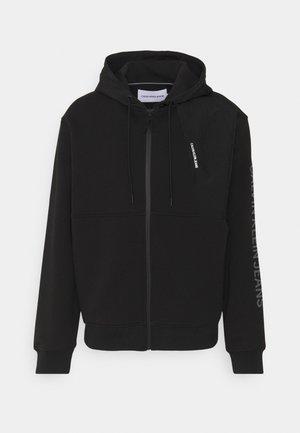 BACK GRAPHIC MIXED ZIPTHROUGH UNISEX - Zip-up sweatshirt - black
