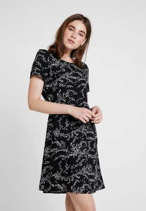 AUTUMN AMAZE SHORT DRESS - Denní šaty - black/emma
