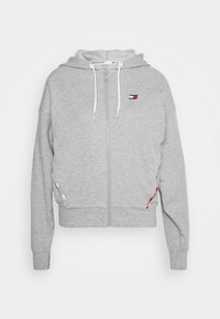 Tommy Hilfiger - HOODY PIPING - Zip-up hoodie - grey heather - 4
