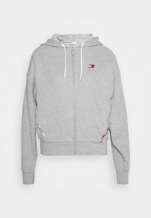 HOODY PIPING - Felpa aperta - grey heather