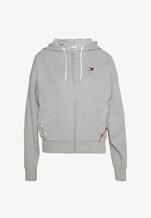HOODY PIPING - Hettejakke - grey heather