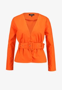 Missguided - BELTED PLUNGE BLOUSE - Blouse - flame - 3