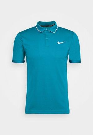 DRY TEAM - Sports shirt - neo turquoise/white