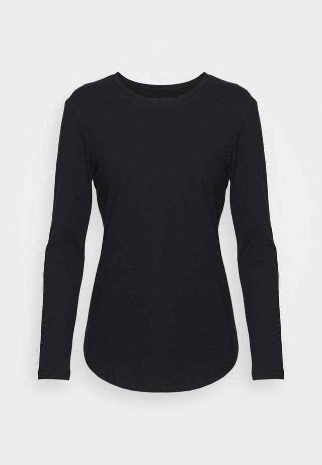LONG SLEEVE SADDLE HEM - Topper langermet - midnight