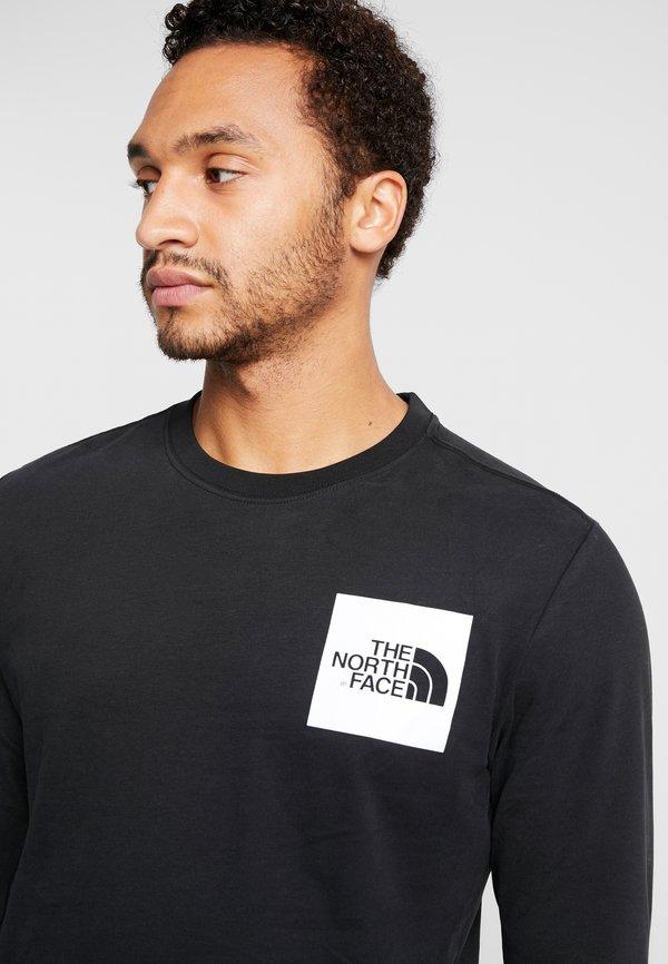 The North Face FINE TEE - Bluzka z długim rękawem - black/white/czarny Odzież Męska ZWHU