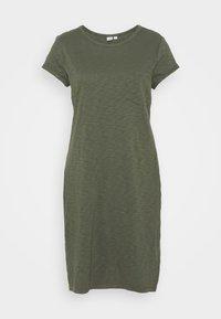 TEE DRESS - Jersey dress - tweed green