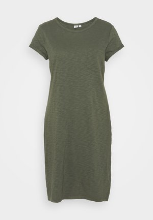 TEE DRESS - Jersey dress - tweed green