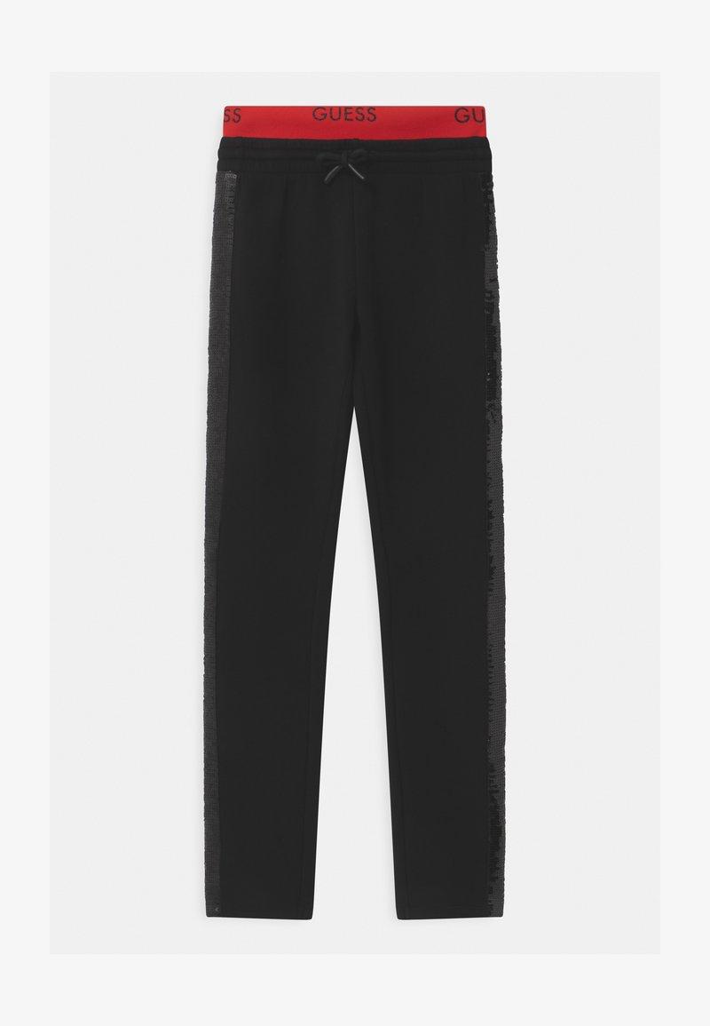 Guess - JUNIOR ACTIVE - Teplákové kalhoty - jet black