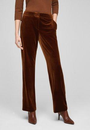Trousers - brown melange